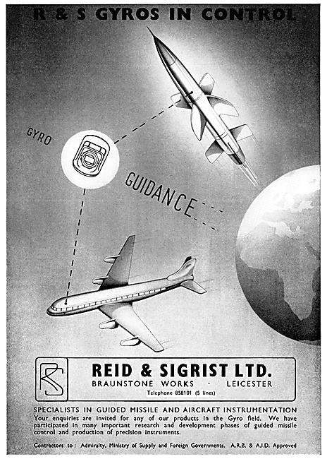Reid & Sigrist Aircraft Flight Instruments & Guidance Systems