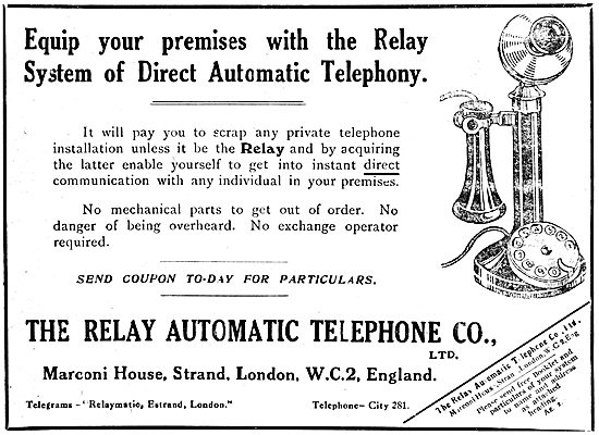 The Relay Automatic Telephone Co Ltd - Marconi 1919