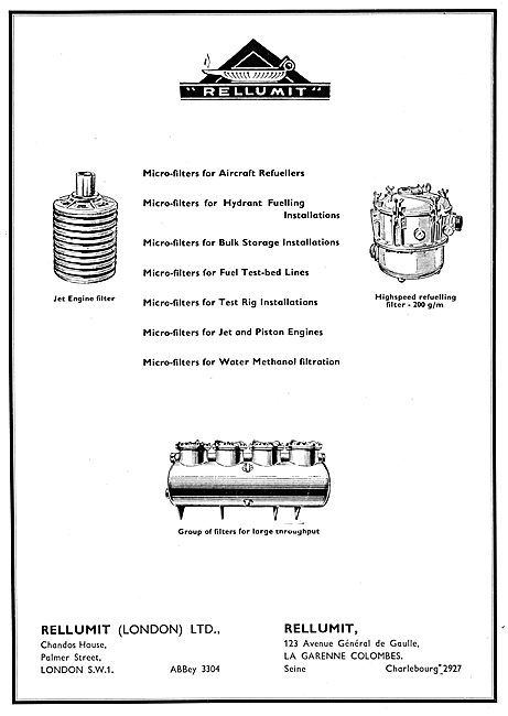 Rellumit Filters, Micro-Filters For Bulk Fuel Storage & Test Beds