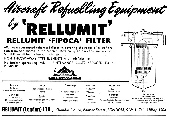 Rellumit Aircraft Re-Fuelling Equipment  FIPOCA Filter