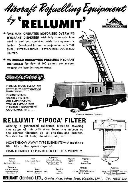Rellumit Aircraft Refuelling Equipment 1959