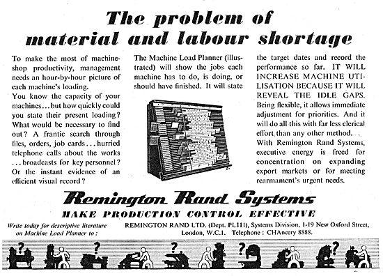 Remington Rand Machine Load Planner