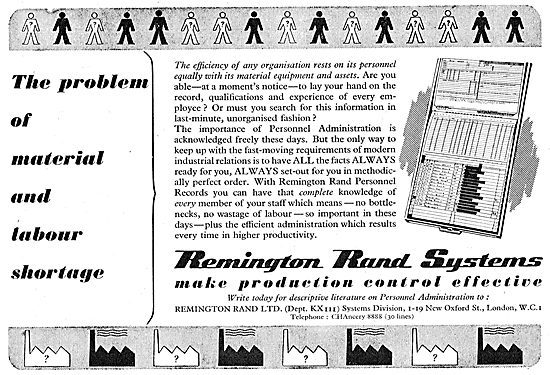 Remington Rand Factory Personnel Records System