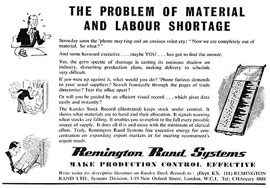 Remington Rand Kardex Stock Library