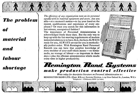 Remington Rand Technical Administration Office Equipment