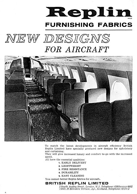 British Replin Aircraft Cabin Furnishing