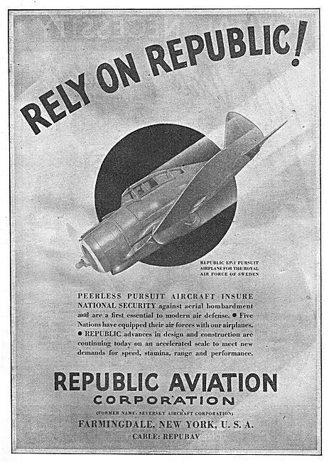 Republic Aviation EP-1 Pursuit Aircraft