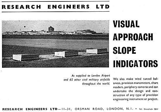 Research Engineers Ltd. VASI. Visaul Approach Slope Indicators