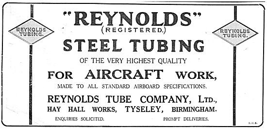 Reynolds  Highest Quality Steel Tubing For Aircraft Manufacturers