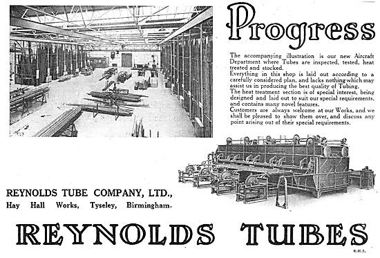 Reynolds Aircraft Tubing - Progress