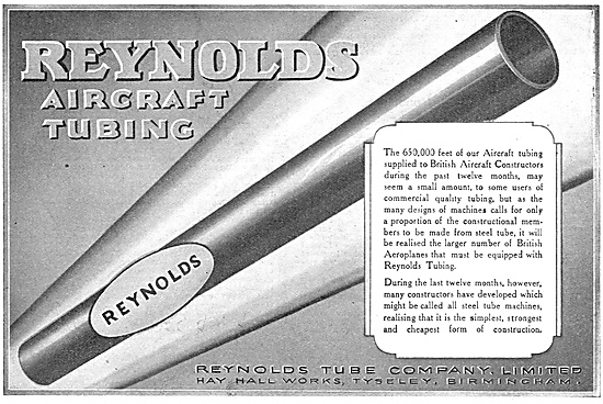 Reynolds Tubing For Aircraft Constructors