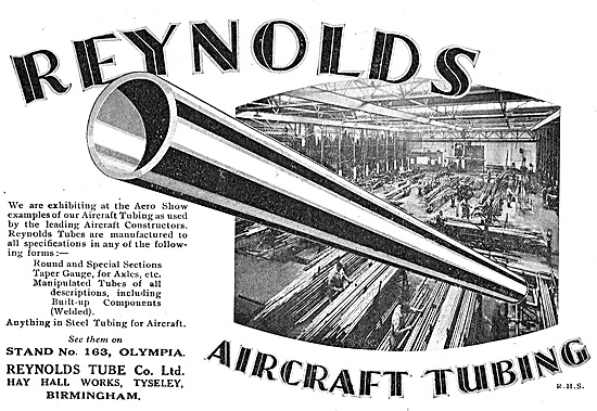 Reynolds Taper Gauge Tubing For Aircraft Axles