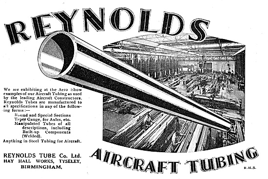 Reynolds Round & Special Section Tubing For Aircraft Constructors