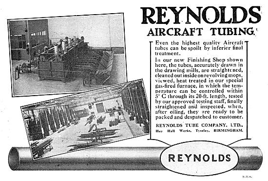 Reynolds Aircraft Tubing Have A New Finishing Shop