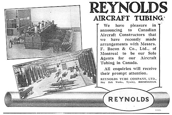 Reynolds Aircraft Tubing Now Available To Canadian Constructors