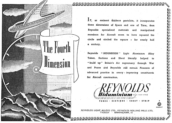T.I. Reynolds Hiduminium Tubes, Rods, Sections, Sheet & Strip