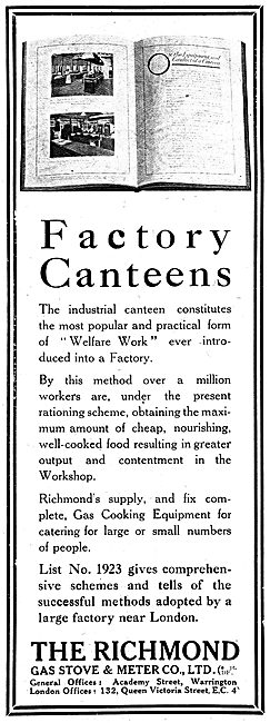 Richmond Gas Stove & Meter Co - Industrial Canteen Cookers