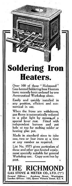 Richmond Gas Stove & Meter Co - Soldering Iron Heaters