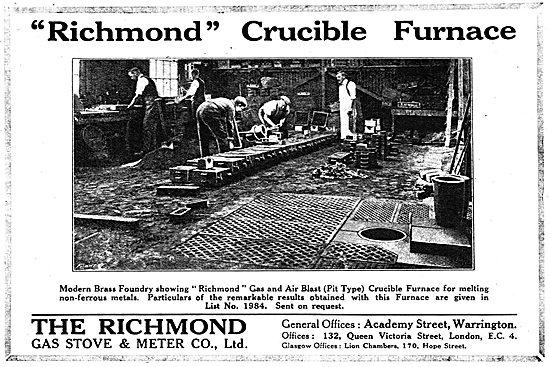 Richmond Gas Stove & Meter Co - Richmond Crucible Furnace