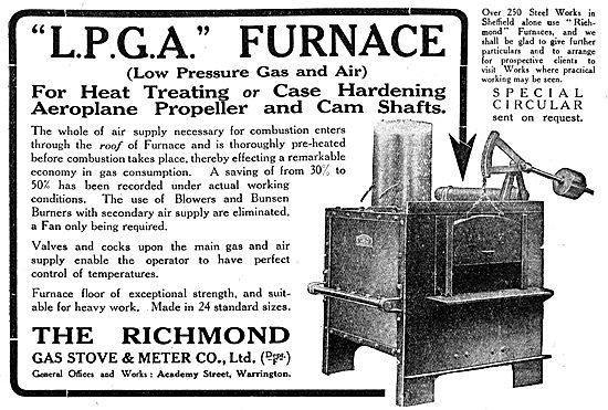 Richmond Gas Stove & Meter Co - Richmond L.P.G.A Furnace.