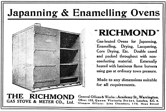 Richmond Gas Stove & Meter Co - Japanning & Enamelling Ovens