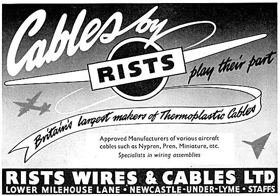 Rists Aircraft Wires & Cables - Thermoplastic Cables