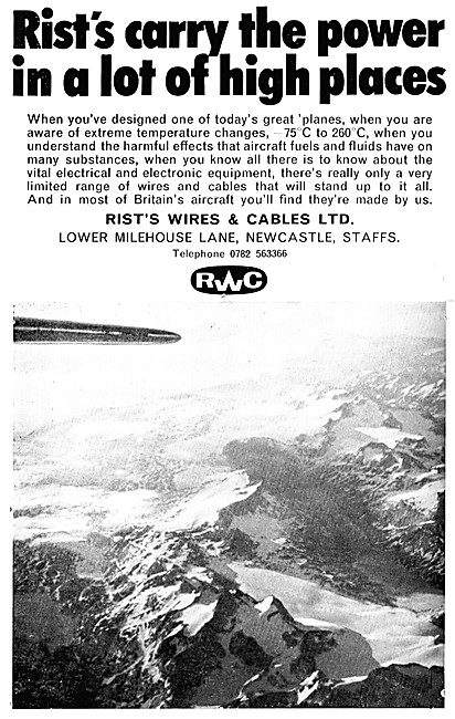 Rists Aircraft Wires & Cables. RWC Aircraft Cables