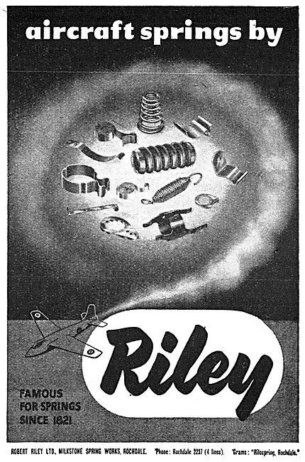 Robert Riley Aircraft Springs 1950