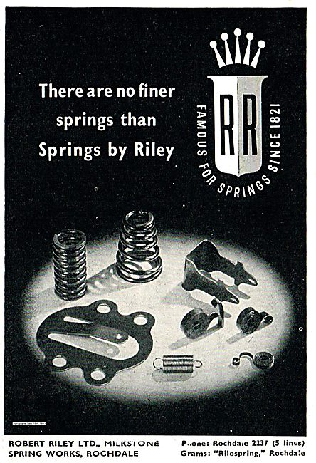 Robert Riley. Famous For Springs Since 1821