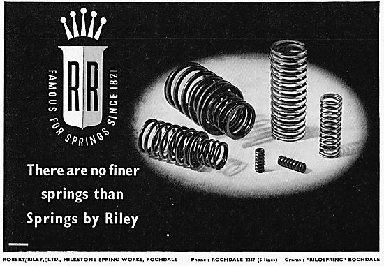 Riley. Famous For Springs Since 1821