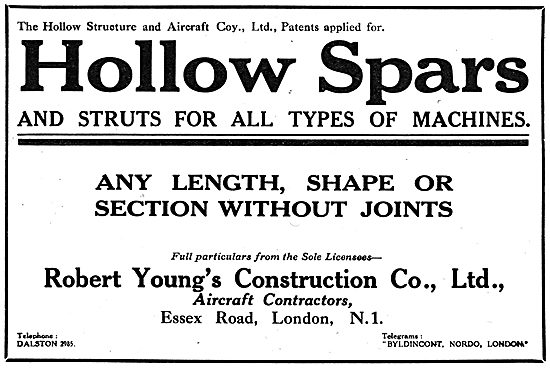 Robert Young's Construction Company - Hollow Spars & Struts