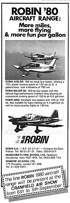 Robin Aircraft Range 1979