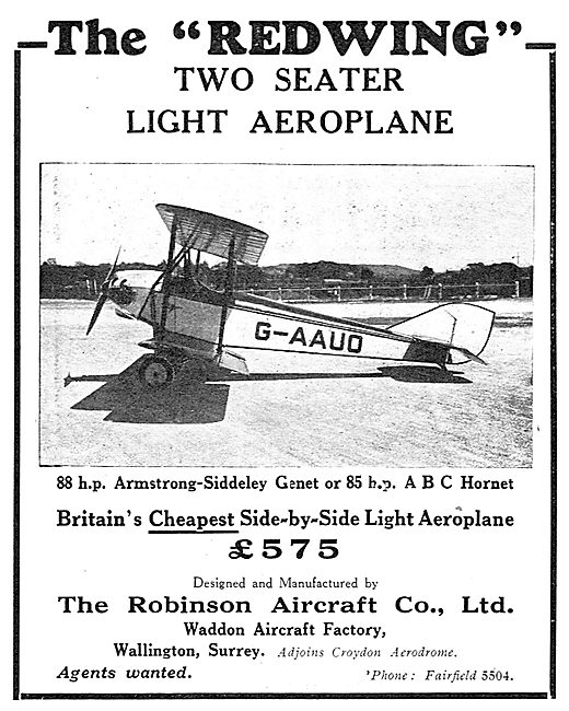 The Robinson Redwing - Britain's Cheapest Side-By-Side Aeroplane