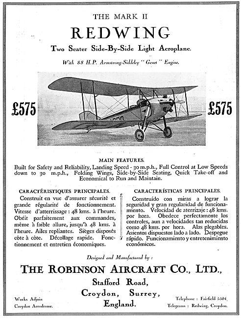 The Robinson Redwing - Genet Engine. £575