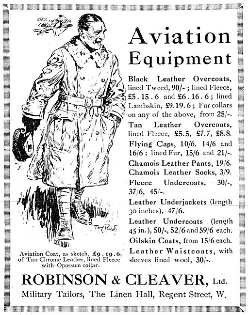 Robinson & Cleaver Aviation Clothing