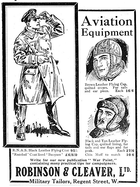 Robinson & Cleaver Flying Leather Helmets
