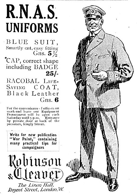 Robinson & Cleaver RNAS Uniforms