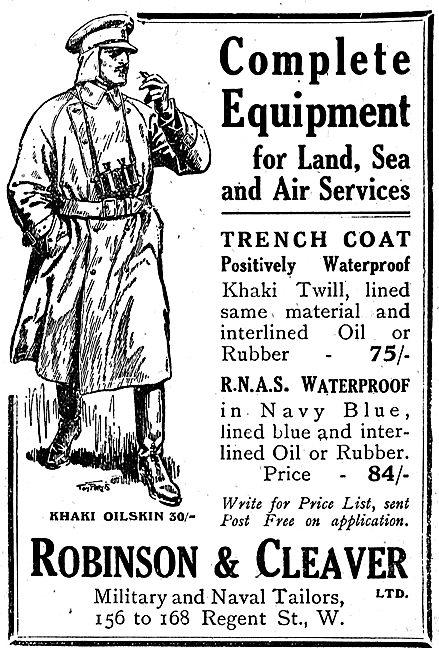 Robinson & Cleaver RNAS Waterproofs In Navy Blue 84/-