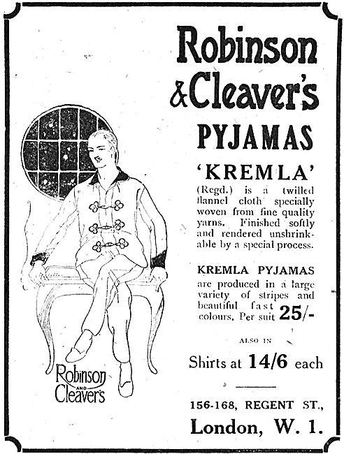Robinson & Cleaver Kremler Twilled Flannel Pyjamas