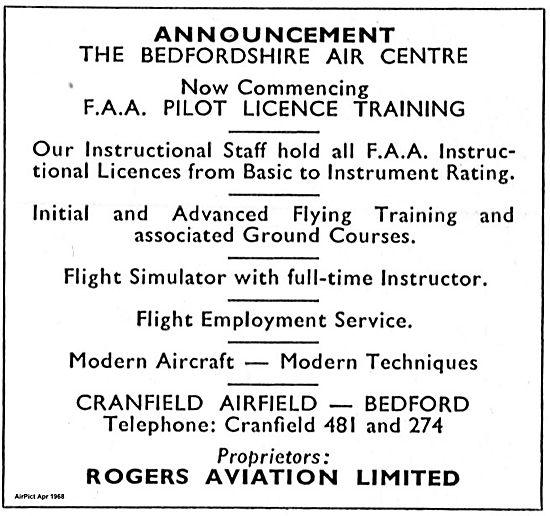 Rogers Aviation Announces The Bedfordshire Air Centre Cranfield