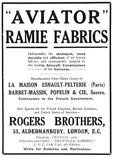Rogers Brothers AVIATOR RAMIE Fabrics