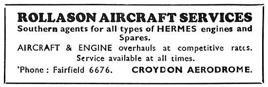 Rollason Aircraft Services Croydon - Aircraft & Engine Overhauls