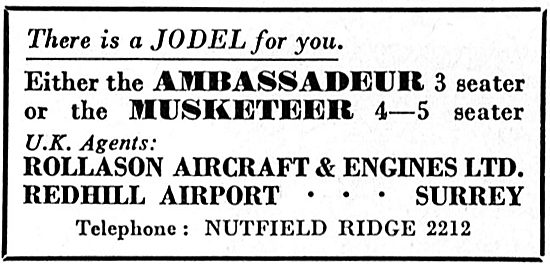 Rollason Aircraft, Redhill For Jodel Ambassadeur & Musketeer