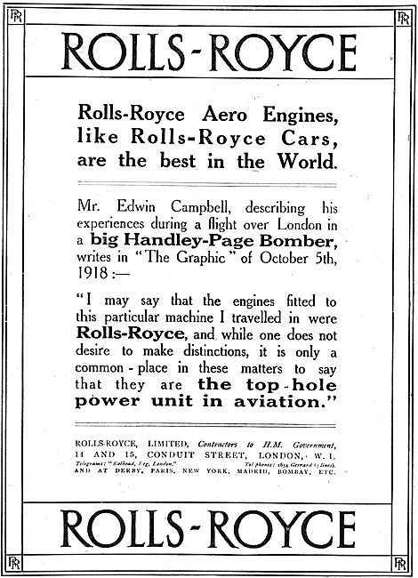 Rolls-Royce Aero Engines Are The Best In The World