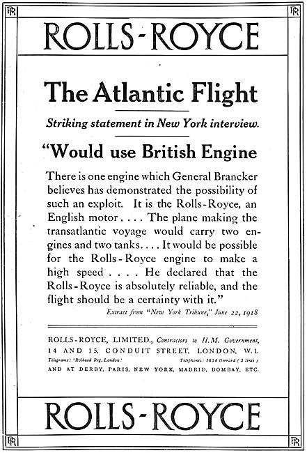 Rolls-Royce Aero Engines 1918