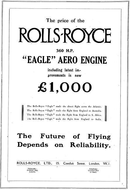 Rolls-Royce Eagle 360 HP Aero Engine