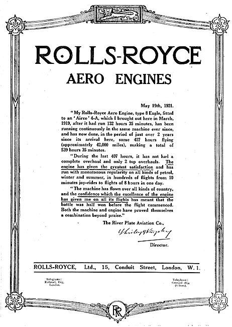 Rolls-Royce Eagle Type 8 360 HP Aero Engine
