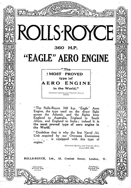 Rolls-Royce Eagle 360 HP Aero Engine