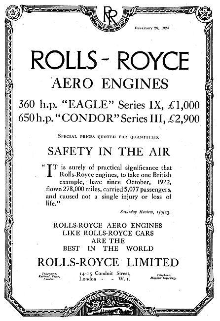 Rolls-Royce Eagle & Condor Aero Engines