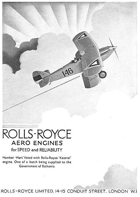 Rolls-Royce Kestrel Engines Power Estonia's Hawker Harts
